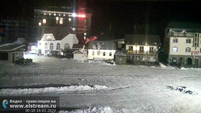Веб-камера на склоне Чегет, Кавказ